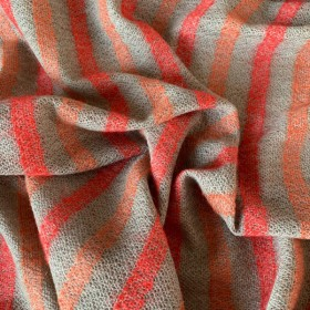 """Striped Wool and Cotton Blend """"Bologna"""""""