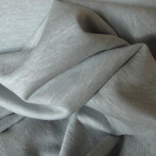 Dove-Grey Linen Jersey fabric