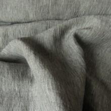 Remnant  Ramie & Linen fabric Grey 46 cm x 153 cm