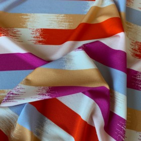 Viscose Jersey fabric Brushstroke