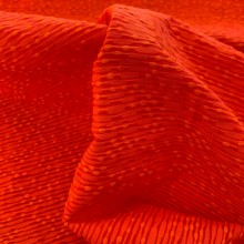 Orange Cotton and Viscose Jacquard fabric Balenciaga