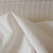 Embroidered Cotton Plumetis Velina Naturel