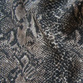 Remnant Python Viscose fabric  170 cm x 138 cm