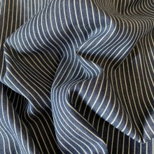 Striped Cotton Jeans