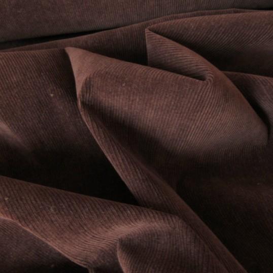 Brown Cotton Corduroy fabric