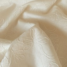 Off white Linen and Viscosa Broderie Vintage