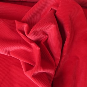 Cherry Red Cotton Corduroy fabric