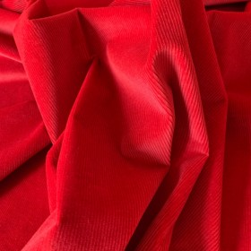 Strawberry Red Corduroy Cotton fabric