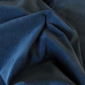 Denim Blue Cotton Corduroy fabric