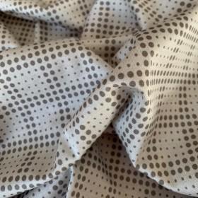Cotton Jersey Dove Grey polka dots