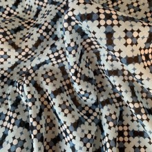 Cotton Batiste Blue Denim polka dots