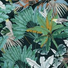 Remnant Viscose Rayon Jungle Green Gables 30 cm x 140 cm