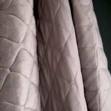 Grey Quilted fabric