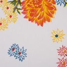 Oilcloth Chrisantemos bianco