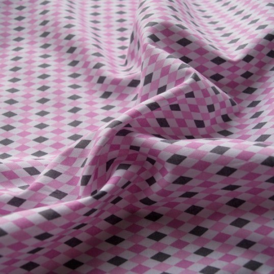 Mini Harlequin pink fabric
