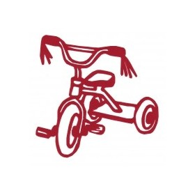 Iron-on patch tricycle