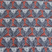 Japanese fabric lion head print