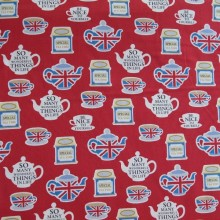 Japanese fabric British tea time