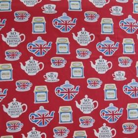 Japanese fabric British tea time