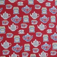 Tessuto cotone British Tea Time