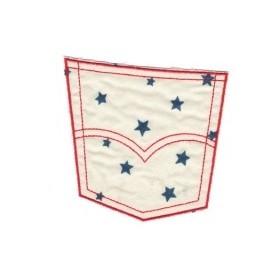 Iron-on fabric patch – pocket