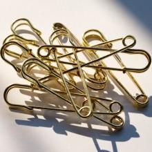 Spilla da Balia kilt ottone oro (75mm)
