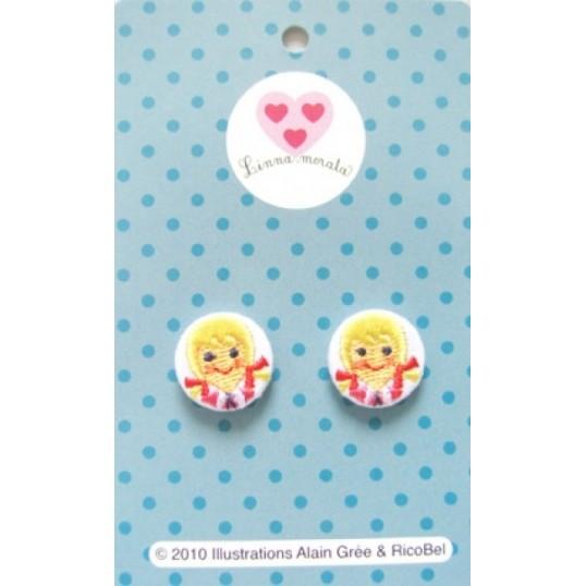 Buttons Alain Grée, embroidered little girl