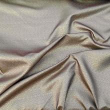 Golden lurex cotton fabric remnant 150 cm x 150cm