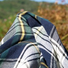 scampolo lana tartan 118 cm x 150 cm