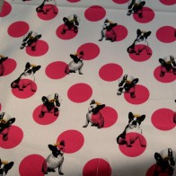 Crowned Bulldog cotton fabric
