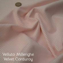 Tessuto velluto cotone rosa chiaro