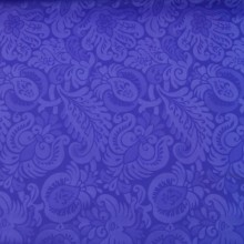 Scuba fabric purple & flowers