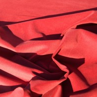 Cotton velvet fabric terracotta