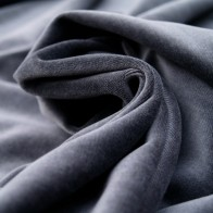 Cotton velvet fabric grey