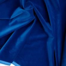 scampolo velluto cotone blu petrolio 123 cm x 150 cm