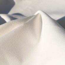Tessuto velluto cotone millerighe bianco