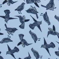Light blue viscose  fabric - hummingbird