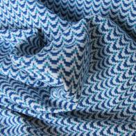 Jacquard fabric blue and turquoise