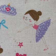 cotton fabric ballerinas
