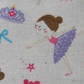 cotton fabric ballerinas
