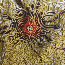 tessuto wax Supreme dorato e arancio