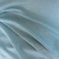 linen jersey fabric  -  turquoise color