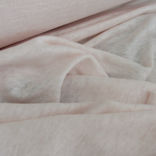 linen jersey fabric  -  light pink color