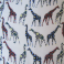 polyester fabric with a giraffes pattern
