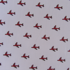 Aircrafts pattern cotton fabric
