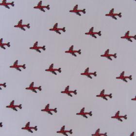 Aircrafts pattern cotton fabric