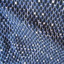 tessuto di cotone fantasia blu scuro e blu cobalto