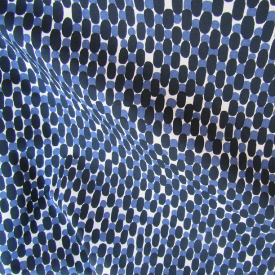 navy and cobalt blue pattern cotton fabric