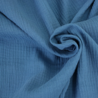 double gauze cotton fabric cobalt blue