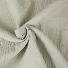 double gauze cotton fabric pearl grey